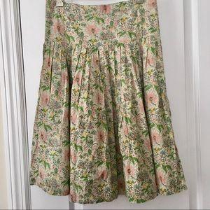 Diario | Vintage Italian Floral Pleated Skirt 42